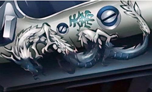 Detail from Chang's Berettas (Black Lagoon anime)