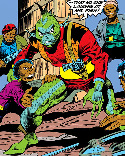 Mister Fish (Luke Cage enemy) (Marvel Comics) and his henchmen