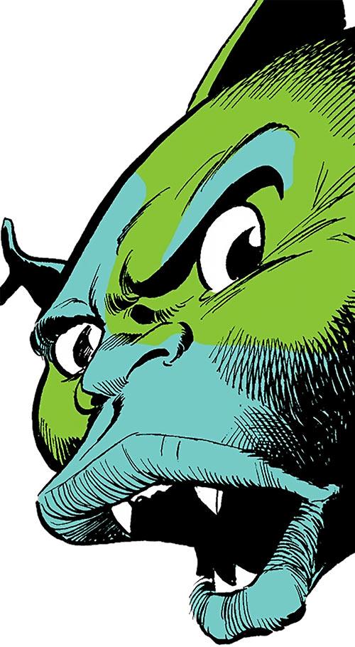 Mister Fish (Luke Cage enemy) (Marvel Comics) face closeup