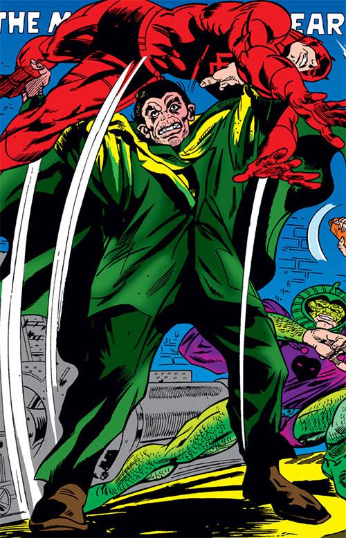 Mister Hyde (Marvel Comics) grabbing Daredevil