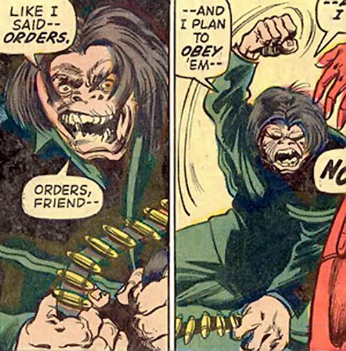 Mister Hyde (Marvel Comics) with a belt of cartridges