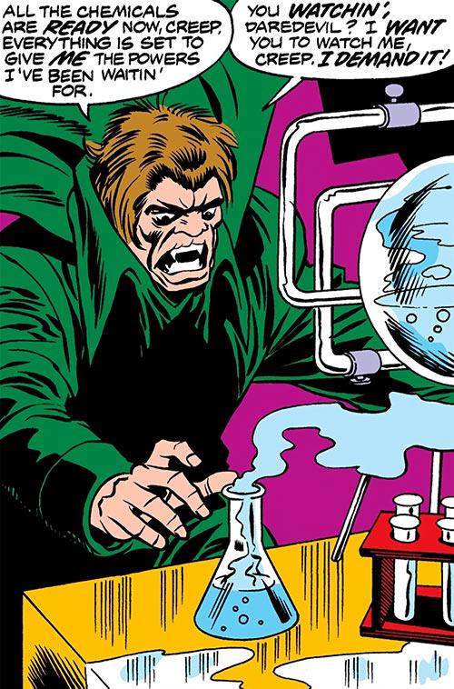 Mister Hyde (Marvel Comics) doing chemistry