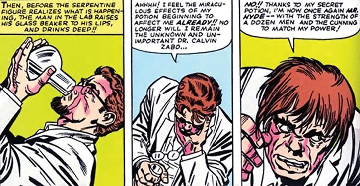 Mister Hyde (Calvin Zabo) drinks his serum
