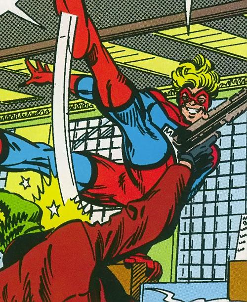 Mister Immortal of the Great Lakes Avengers (Marvel Comics) kicks a gunman