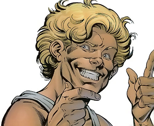 Mister Immortal of the Great Lakes Avengers (Marvel Comics) face closeup
