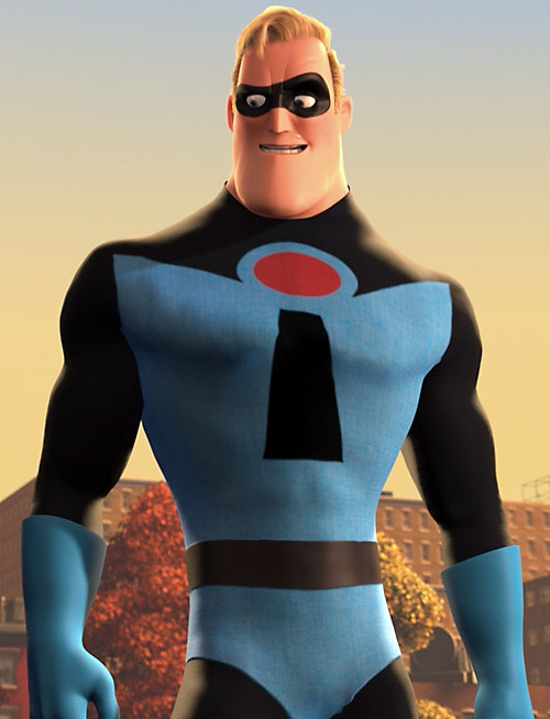 A young Mister Incredible (Pixar's The Incredibles)