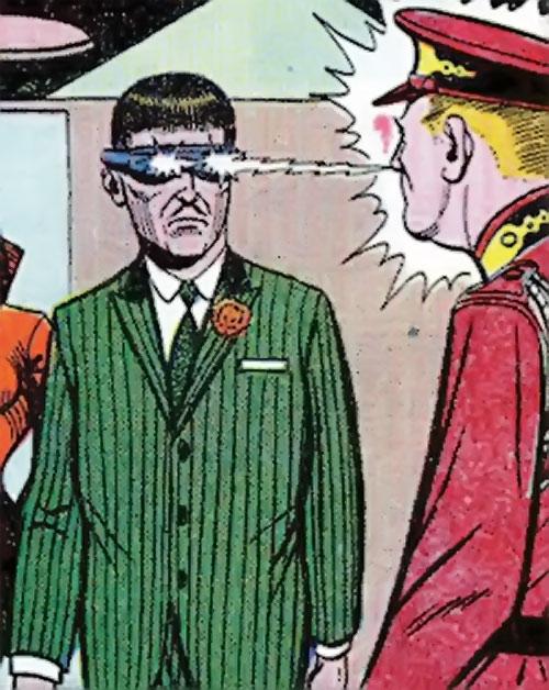 Mister Ize (Sarge Steel enemy) (Secret Agent Charlton comics) using his power
