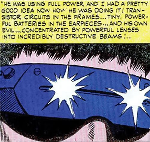 Mister Ize (Sarge Steel enemy) (Secret Agent Charlton comics) visor closeup