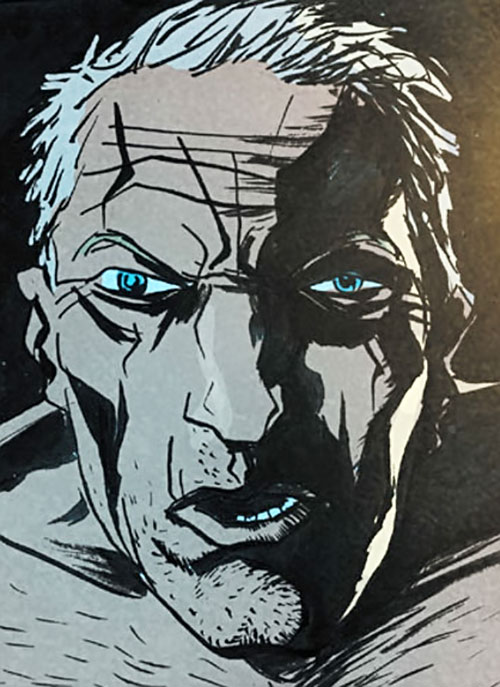 Mister Jepperd (Sweet Tooth comics by Lemire) face closeup