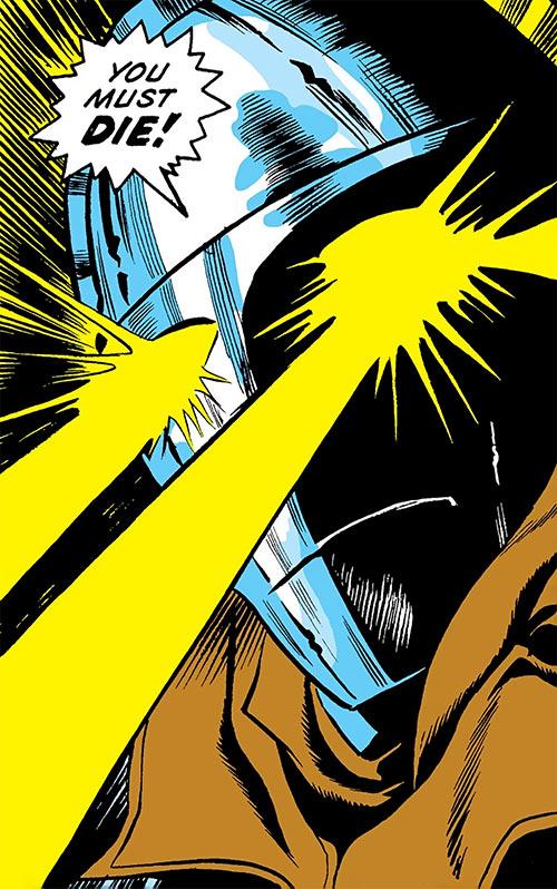 Mister Kline the Assassin (Marvel Comics) shooting eye beams