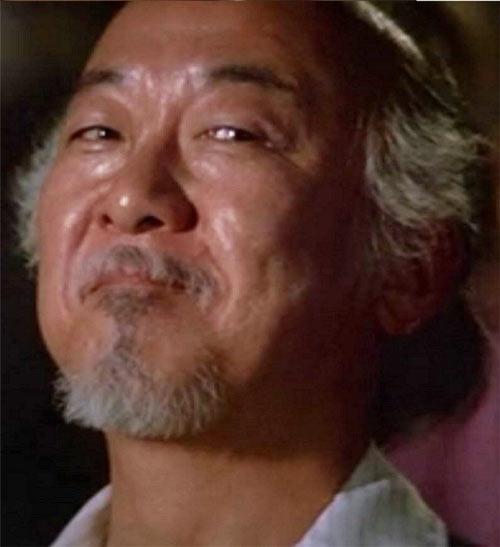 Mister Miyagi - Pat Morita in Karate Kid - smile face