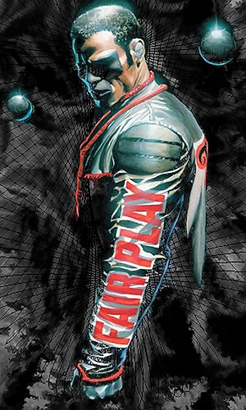 Mister Terrific of the JSA (Michael Holt) (DC Comics) in darkness