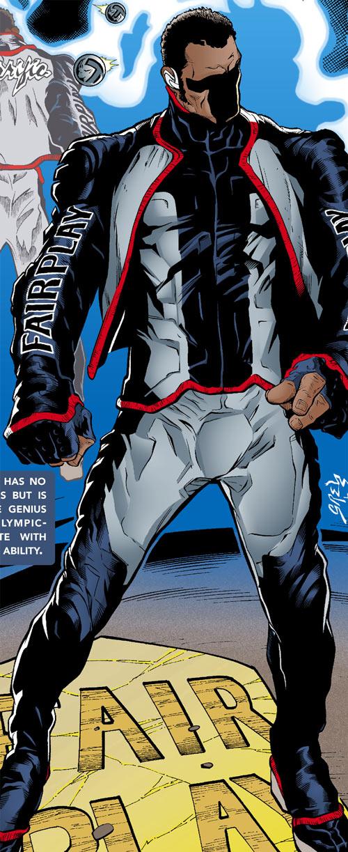 Mister Terrific of the JSA (Michael Holt) (DC Comics) from a secret origins issue