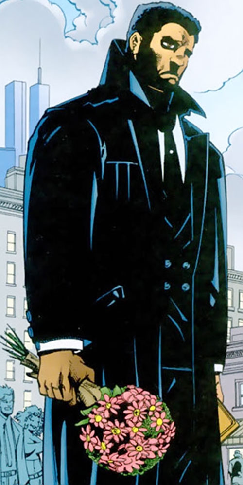 Mister Terrific of the JSA (Michael Holt) (DC Comics) mourning