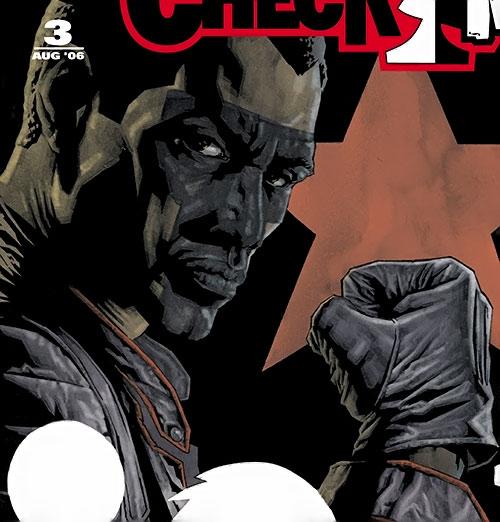Mister Terrific of the JSA (Michael Holt) (DC Comics) face closeup