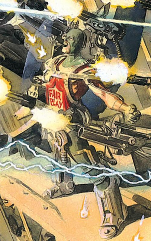 Mister Terrific (Kingdom Come version) firing his guns