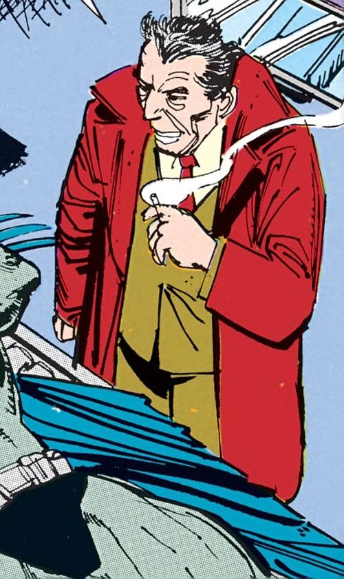 Mister Whisper (Batman enemy) (DC Comics Morrison) smoking