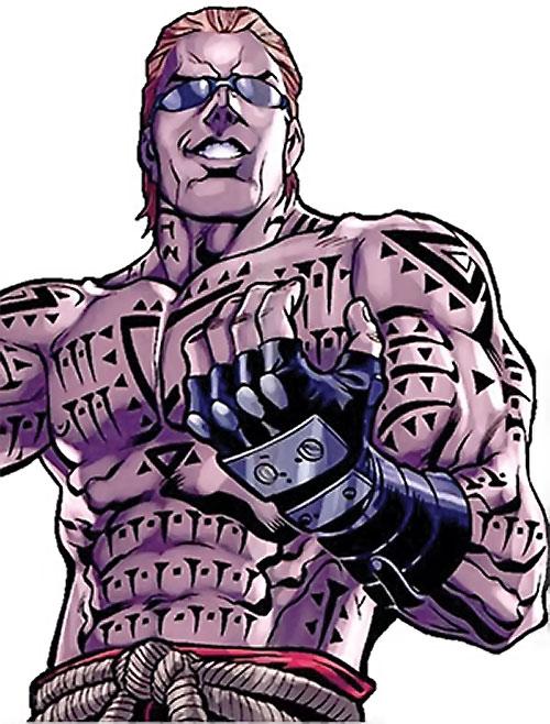 Mister X (Wolverine / Thunderbolts character) (Marvel Comics) tattooed torso