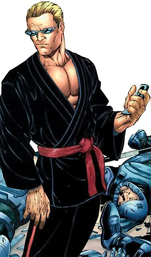 Mister X (Wolverine / Thunderbolts character) (Marvel Comics) in a black gi
