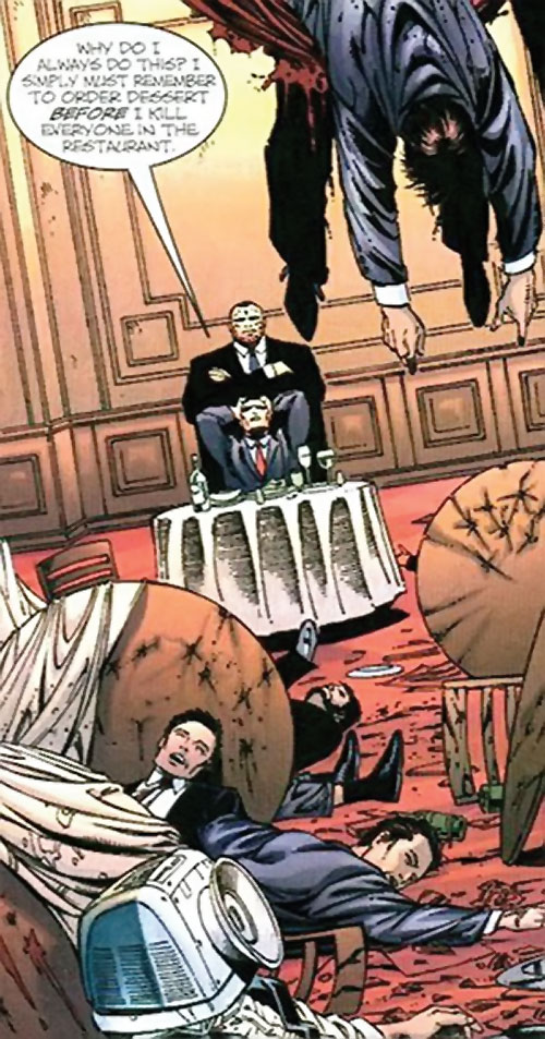 Mister X (Wolverine / Thunderbolts character) (Marvel Comics) murders a restaurant