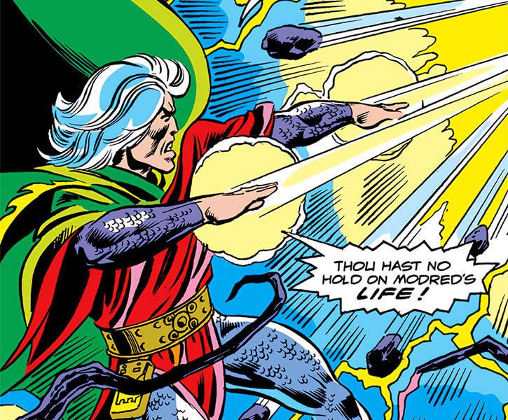Modred the Mystic (Marvel Comics) (Earliest appearances) eldritch bolts