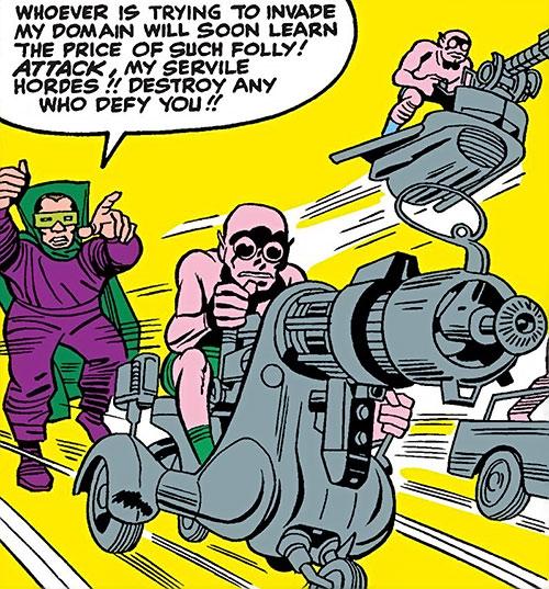 Moloids and Mole Man (Fantastic 4 enemies) (Marvel Comics)