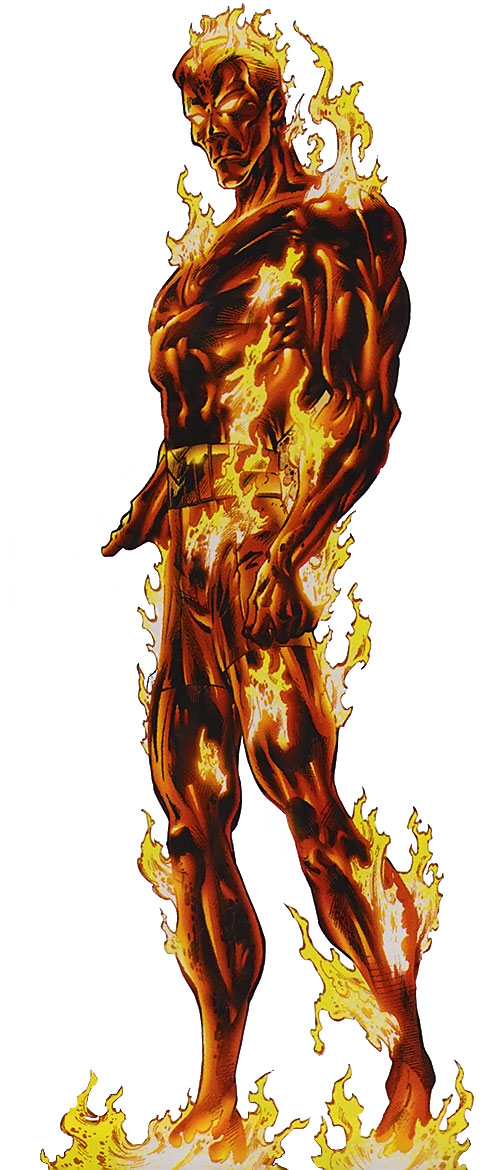 Molten Man (Spider-Man character) is red-hot