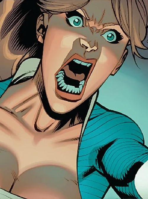Monster Girl of the Guardians of the Globe (Invincible Comics) in human form, yelling