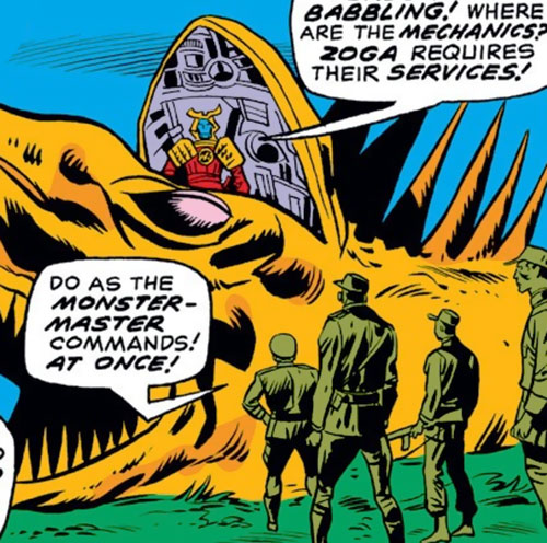 Zoga the robot dragon (Iron Man enemy) (Marvel Comics) with an open cockpit