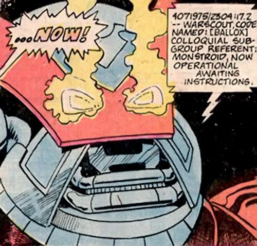 Monstroid aka Ballox (Marvel Comics) face closeup