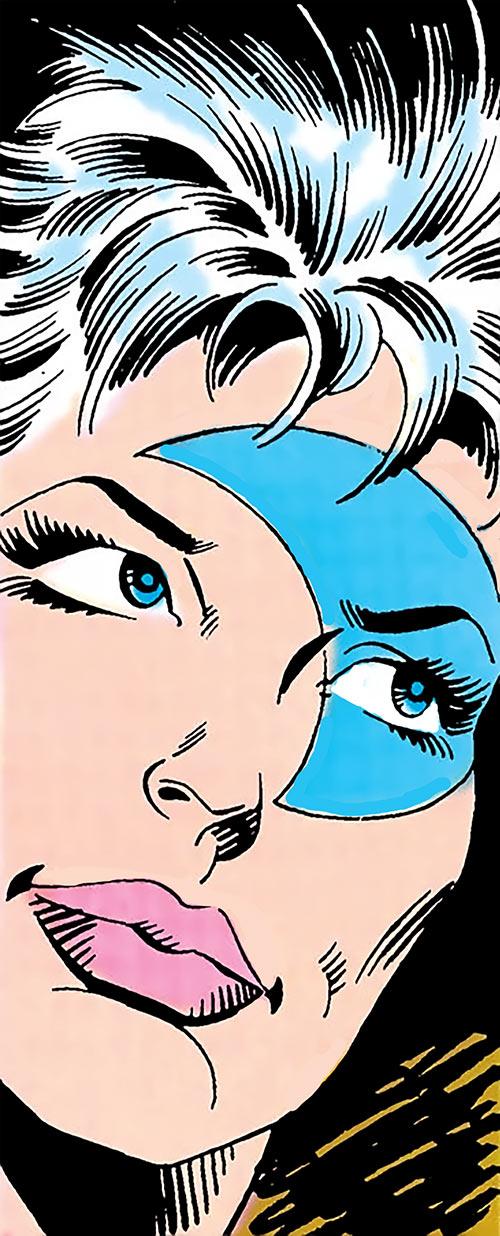 Moonbow (Firestorm character) (DC Comics) face closeup