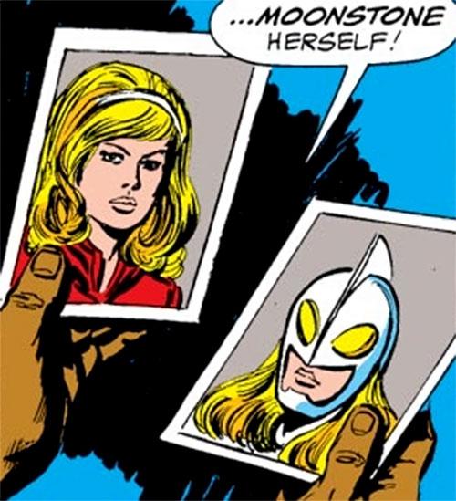 Moonstone (Avengers enemy classic) (Marvel Comics) ID photos