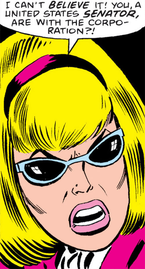 Moonstone (Avengers enemy classic) (Marvel Comics) face closeup out of costume