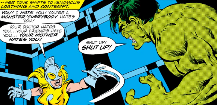 Moonstone (Karla Sofen) vs. the Hulk