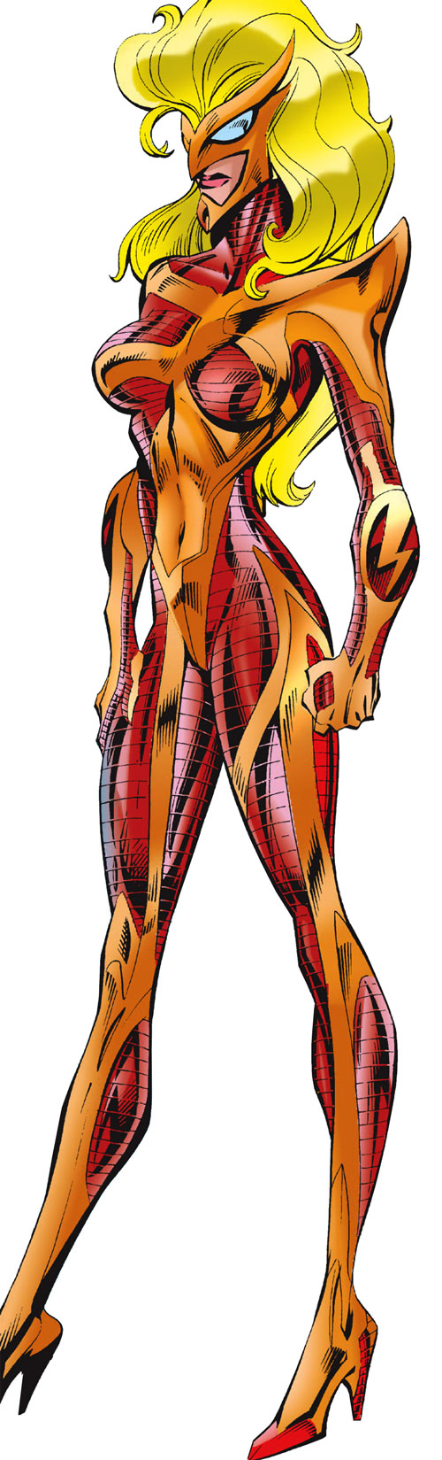 Moonstone / Meteorite of the Thunderbolts (Marvel Comics) orange and light red armor