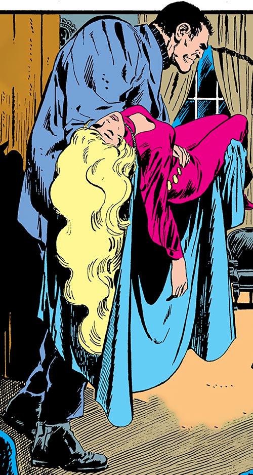 Morgg (Phantom Stranger enemy) (DC Comics) in a bad grey suit