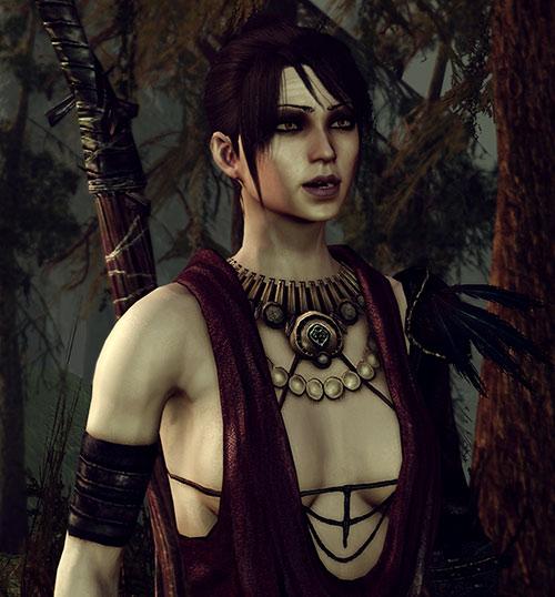Morrigan (Dragon Age: Origins) in the swamp