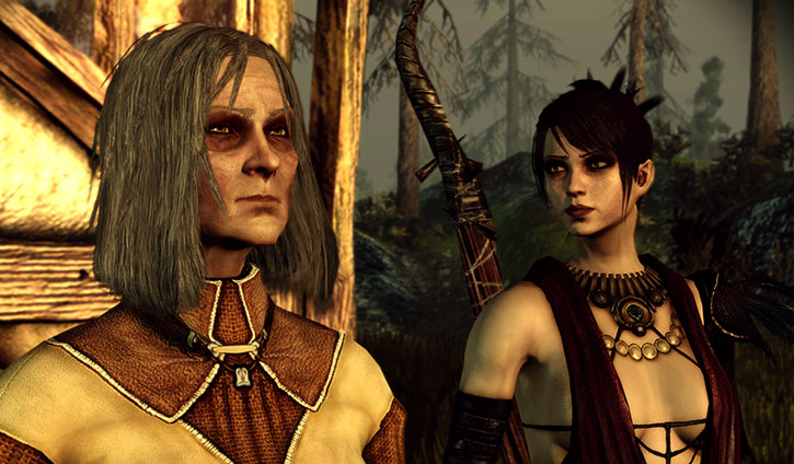 Morrigan and her mother Flemeth