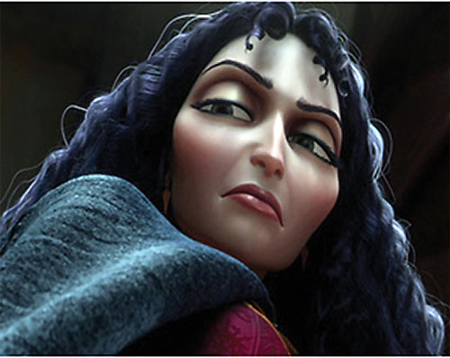 Mother Gothel (Disney's Tangled movie) looks down her nose
