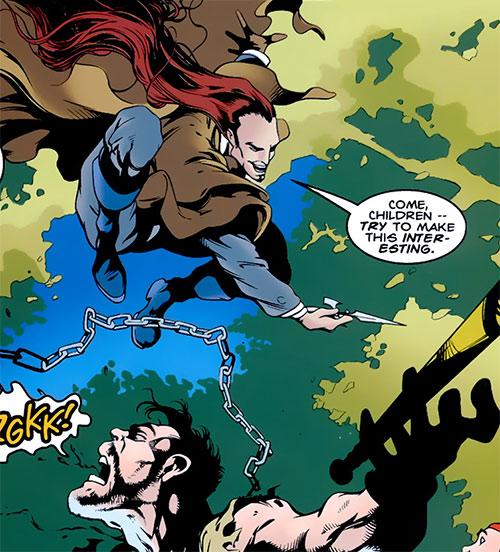 Mountjoy (Bishop enemy) (Marvel Comics) attacking