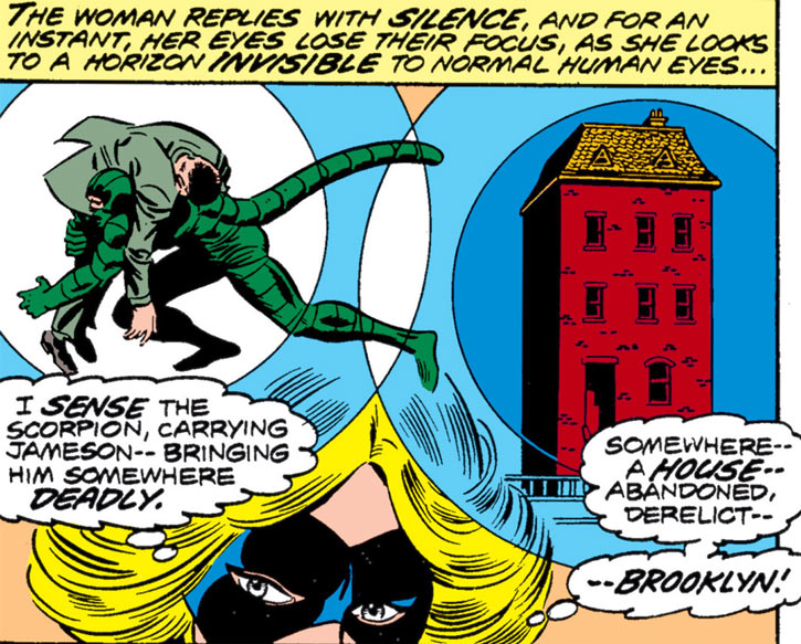 Ms. Marvel (Carol Danvers) has a vision of the Scorpion