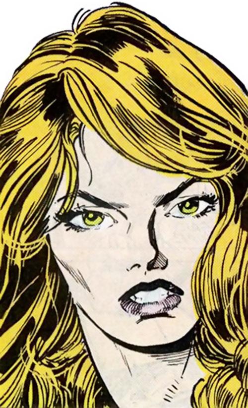 Ms. Marvel Comics (Sharon Ventura) (Early) face closeup