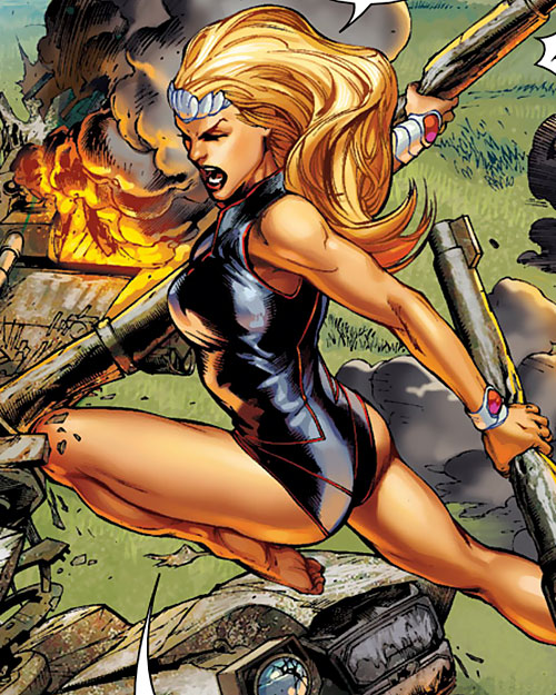 Namora of the Agents of Atlas (Marvel Comics) in battle