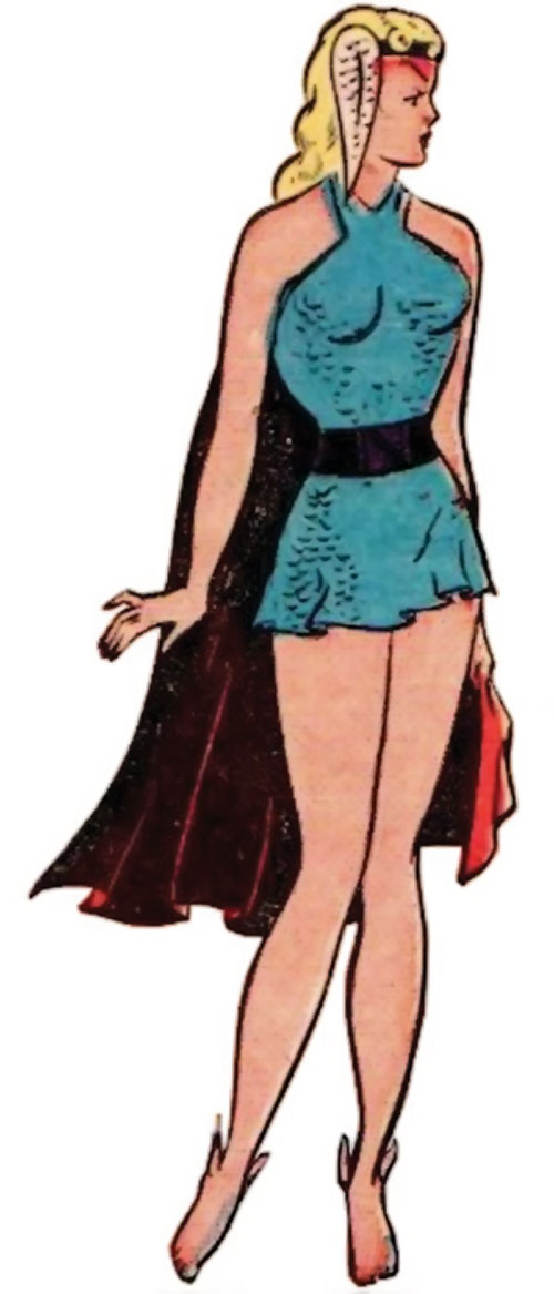 Namora (Golden Age Marvel Timely Comics) looking demure