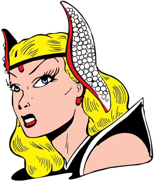 Namora (Golden Age Marvel Timely Comics) portrait with headgear that looks like tentacles