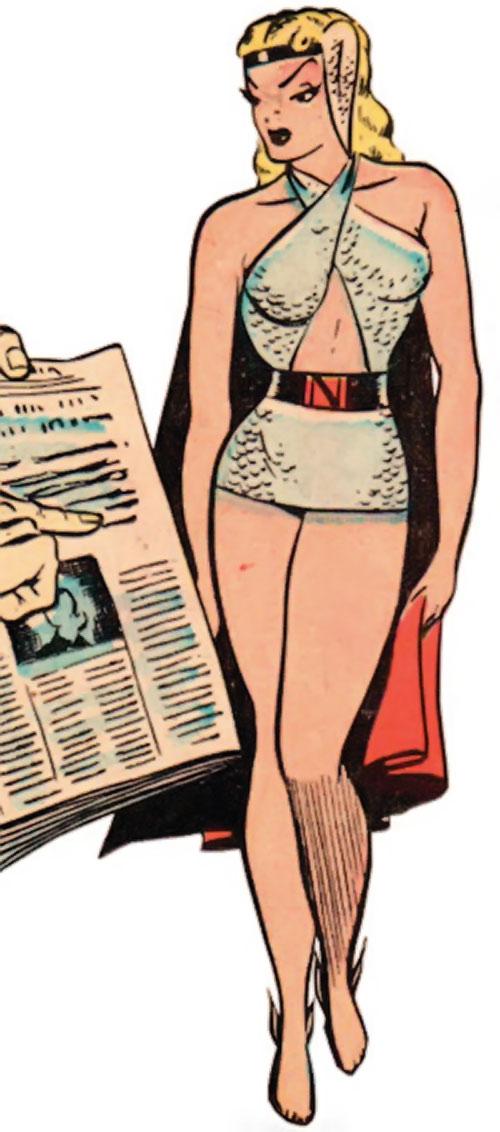 Namora (Golden Age Marvel Timely Comics) in pale blue