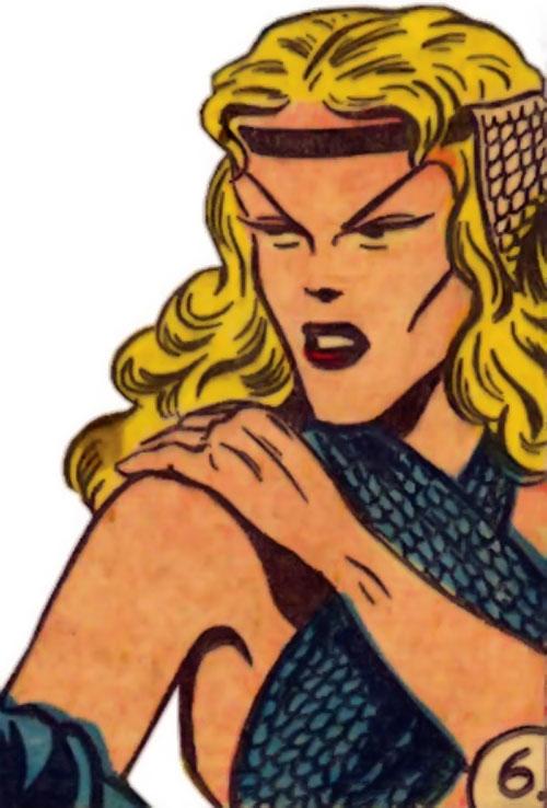 Namora (Golden Age Marvel Timely Comics) face closeup sharp features