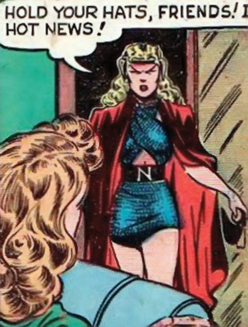 Namora (Golden Age Marvel Timely Comics) has great news