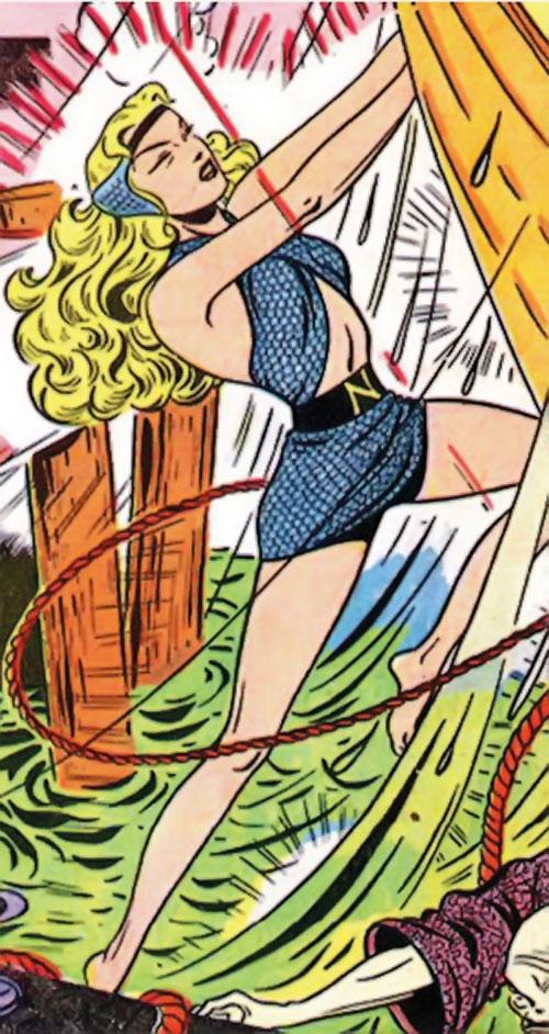Namora (Golden Age Marvel Timely Comics) in action