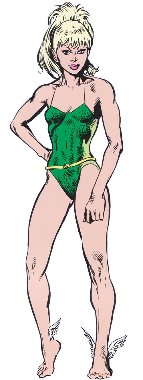 Namorita in the 1980s Marvel Universe handbooks